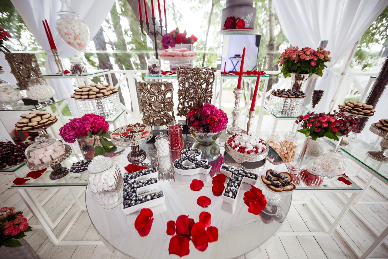 Как оформить кенди-бар на свадьбу