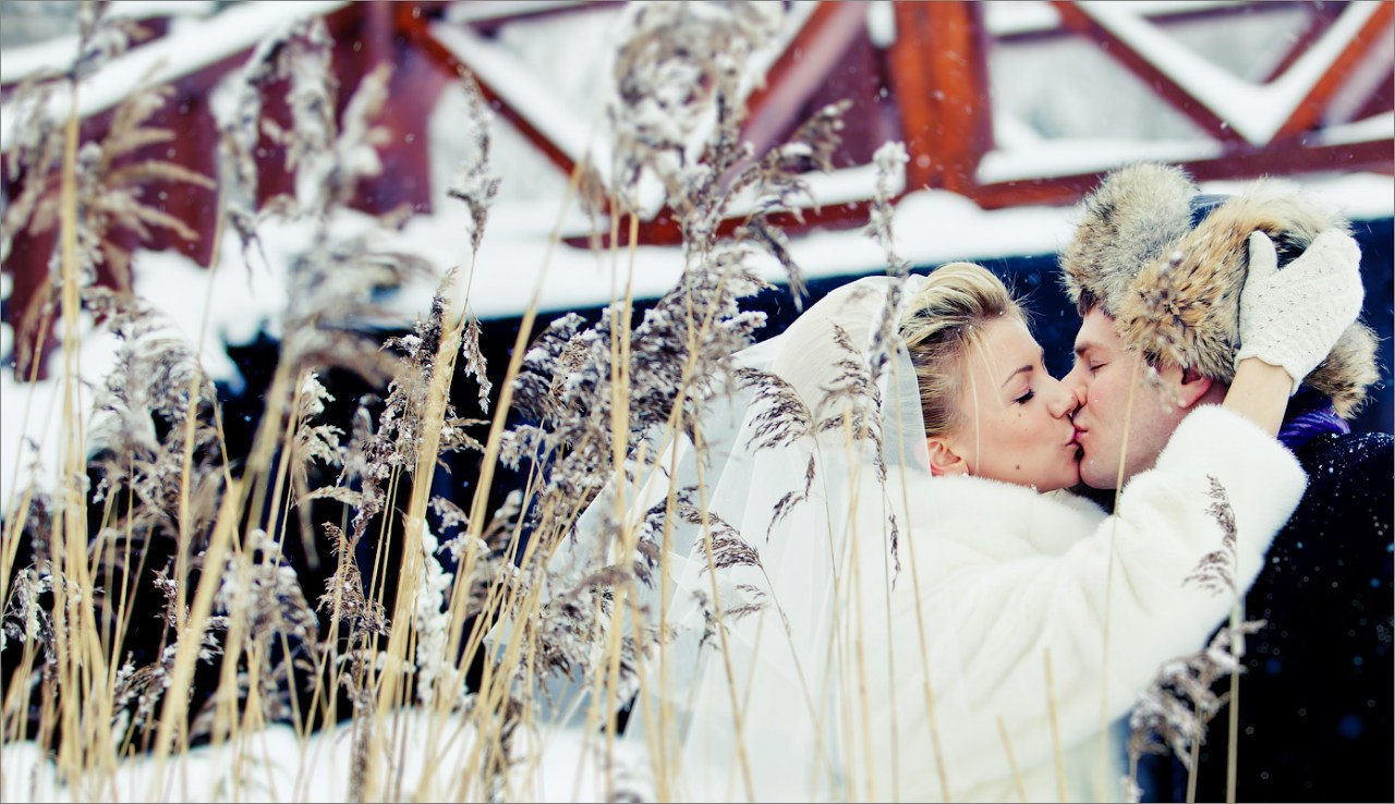 Свадьба зимой: блестяще, романтично, сказочно